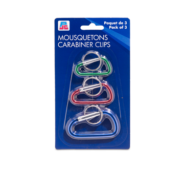 Carabiner Clips, 3 units