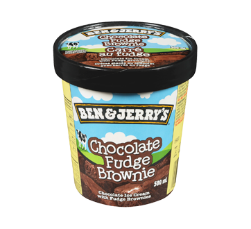 Image of product Ben & Jerry's - Chocolate Fudge Brownie Ice Cream, 500 ml