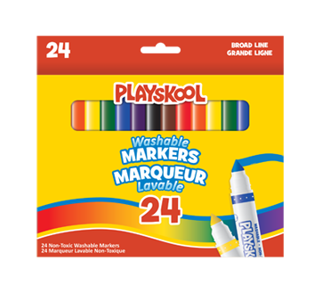 Image of product Playskool - Washable Markers, 24 units