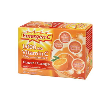 Image 1 of product Emergen-C - Emergen-C Vitamin C Super, 30 units, Orange