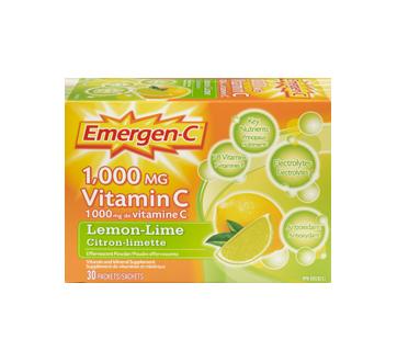 Image 3 of product Emergen-C - Emergen-C Vitamin C, 30 units, Lemon-Lime