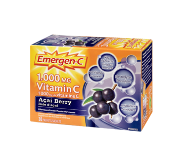 Image 1 of product Emergen-C - Emergen-C Vitamin C, 30 units, Acai Berry