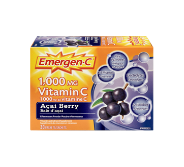 Image 3 of product Emergen-C - Emergen-C Vitamin C, 30 units, Acai Berry