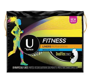 Fitness Panty Liners, 80 units, Light Absorbency, Unscented