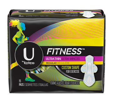 Fitness Ultra Thin Pads With Wings 15 Units Regular Absorbency