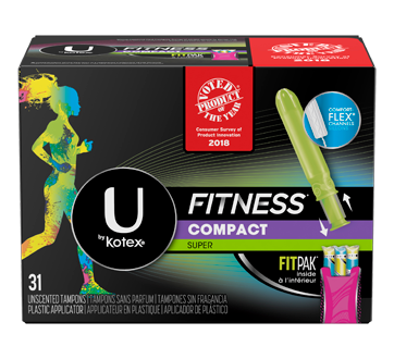 Fitness Tampons, 31 units, Super Absorbency, Unscented