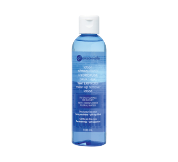 Waterproof Eye Make-Up Remover Lotion with Cornflower Floral Water, 100 ml