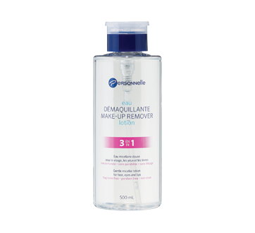 Image of product Personnelle Cosmetics - Make-up Remover Lotion 3 in 1, 500 ml, Fragrance Free