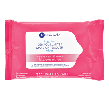Image of product Personnelle Cosmetics - Make-Up Remover Wipes Face, Eyes & Lips, 10 units