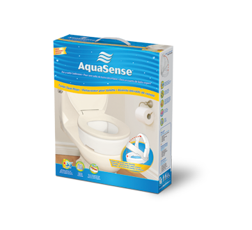 Image of product AquaSense - Toilet Seat Riser with Hinge, for Elongated Size Toilet