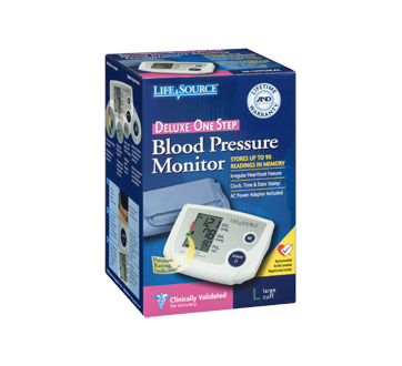 Image 2 of product LifeSource - Automatic Blood Pressure Monitor, 1 unit, Large