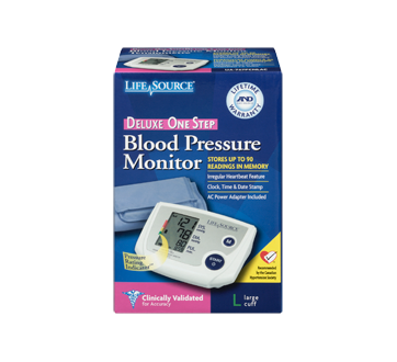 Image 3 of product LifeSource - Automatic Blood Pressure Monitor, 1 unit, Large