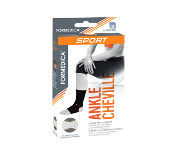 Image of product Formedica - Elastic Ankle Support, 1 unit, Medium Black