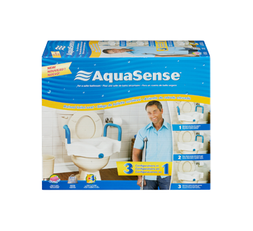 Image 3 of product AquaSense - 3-in-1 Raised Toilet Seat
