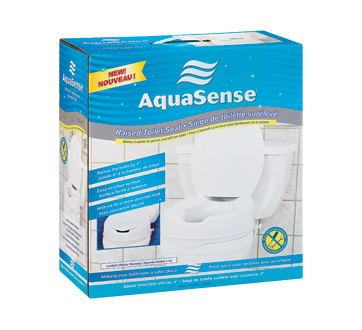 Image of product AquaSense - Raised Toilet Seat with Lid
