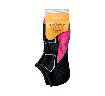 Ladies' Ankle Socks, 1 unit, Black