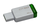 Thumbnail of product Kingston - DataTraveler 50 USB Flash Drive 3.0 16GB, 1 unit, Metal and Green