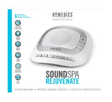 Image 1 of product HoMedics - SoundSpa Portable Sound Machine, 1 unit