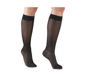 Image of product Truform - Compression Hosiery 15-20 mmhg, Knee High, Large, Black