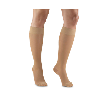 Image of product Truform - Compression Hosiery 15-20 mmhg, Knee High, Large, Beige