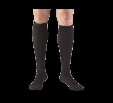 Image of product Truform - Compression Hosiery 15-20 mmhg, Men's Socks, Large, Black