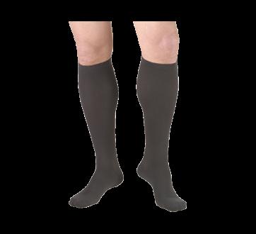 Image of product Truform - Compression Hosiery 15-20 mmhg, Men's Socks, Large, Coal