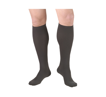 Image of product Truform - Compression Hosiery 15-20 mmhg, Men's Socks, Small, Coal