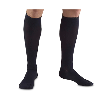 Image of product Truform - Compression Hosiery 15-20 mmhg, Men's Socks, Small, Navy Blue