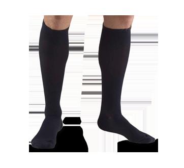 Image of product Truform - Compression Hosiery 15-20 mmhg, Men's Socks, Medium, Navy Blue