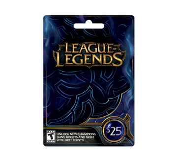 $25 League Of Legends Game Card, 1 unit