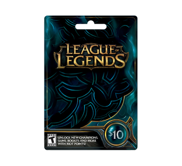 $10 League of Legends Gift Card – Incomm : Gift cards | Jean Coutu