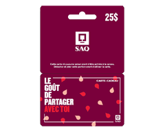 Image of product Incomm - $25 SAQ Gift Card