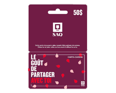Image of product Incomm - $50 SAQ Gift Card