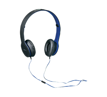 Image 2 of product Virtuoz - Stereo Headphones with In-Line Microphone, 1 unit, Blue