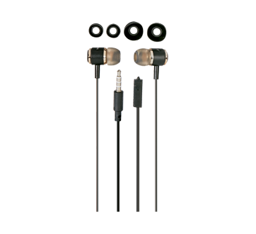 Image 2 of product Virtuoz - Metal Earbuds with Microphone, 1 unit, Black and Gray