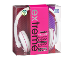 Image of product Virtuoz - Extreme Headphone, 1 unit, White and pink