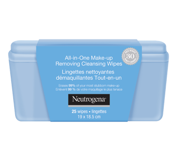 Image of product Neutrogena - All-in-one Make-up Removing Cleansing Wipes, 25 units