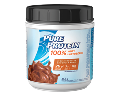 Image of product Pure Protein - 100% Whey Protein Powder, 453 g, Rich Chocolate