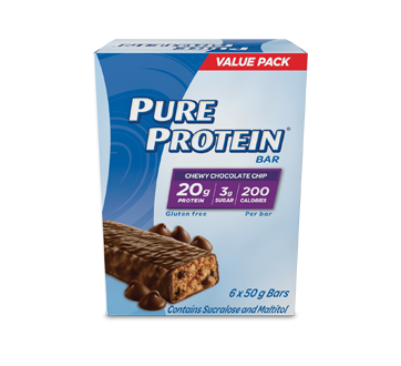 Image of product Pure Protein - Chewy Chocolate Chip, 6 x 50 g