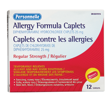 Image of product Personnelle - Allergy Formula Caplets, Regular, 12 units