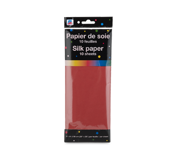 Silk Paper, 10 units, Red