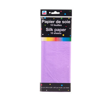 Silk Paper, 10 units, Purple