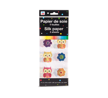 Image of product PJC - Silk Paper, 5 units, Owl Pattern