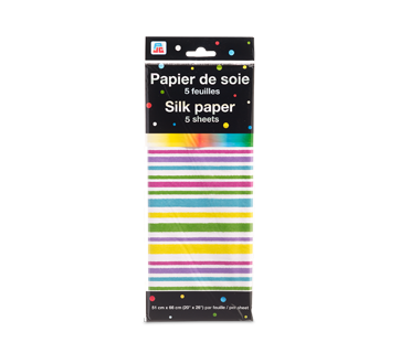 Silk Paper, 5 units, Stripe Pattern