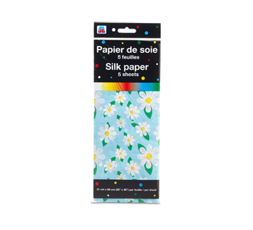 Silk Paper, 5 units, Flower Pattern