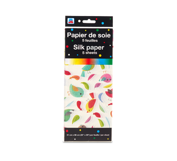 Silk Paper, 5 units, Bird Pattern