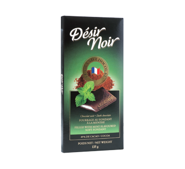 Dark Chocolate Filled with Mint Flavoured Soft Fondant, 135 g