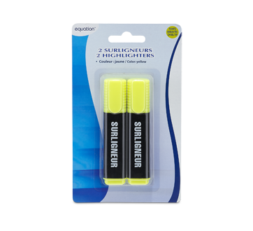 Highlighters, 2 units, Yellow