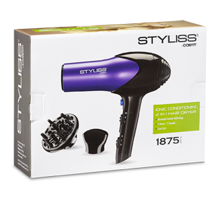 Ceramic Ionic 2-in-1 Hair Dryer, 1 unit