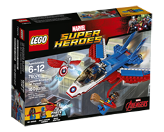 Image of product Lego - Lego Marvel Super Heroes Captain America Jet Pursuit, 1 unit
